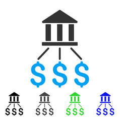 bank payments flat icon vector image