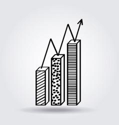 Bar chart icon image vector