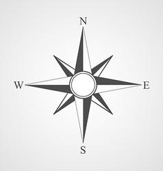 black compass icon vector image