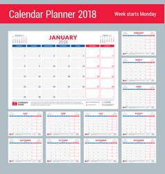 Calendar planner for 2018 year design print vector