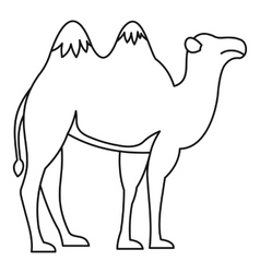 Camel icon outline style vector image