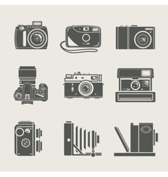 camera new and retro icon vector image vector image