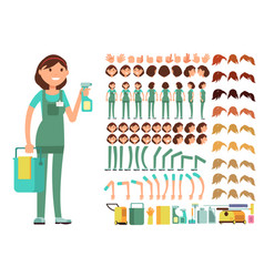 Cleaning company employee woman cleaner vector