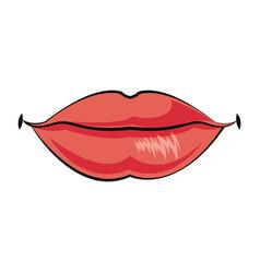 female lips mouth symbol icon design vector image