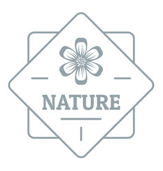 flower nature logo simple gray style vector image vector image