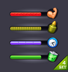 game resource bar-set 4 vector image