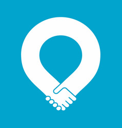 handshake loop vector image