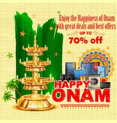 Happy onam sale offer vector