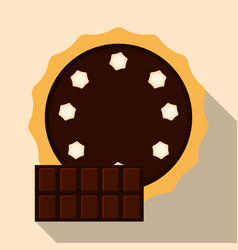 homemade chocolate pie flat vector image vector image