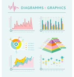 Infographic set elements Graph and Charts vector image