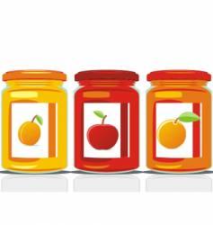 jam jars vector image vector image