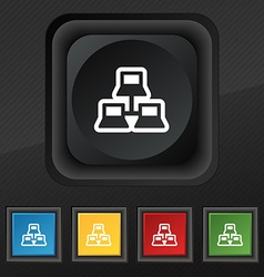 Local area network icon symbol set of five vector
