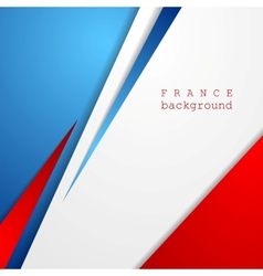 Modern bright abstract background French colors vector image