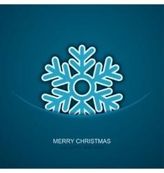 modern christmas snowflakes on blue vector image vector image