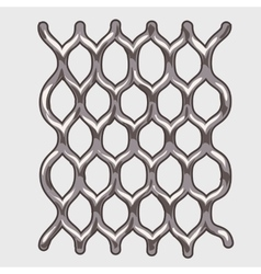 Part of iron grey mesh vector