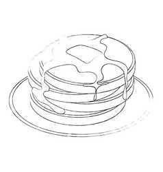 plate with pancakes icon vector image vector image