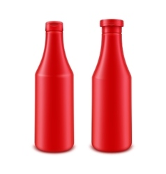 Set of ketchup bottle for branding without label vector