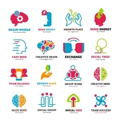 Social relationship logo icons set vector