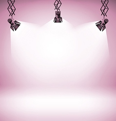 Spot light abstract club gallery theater interior vector image