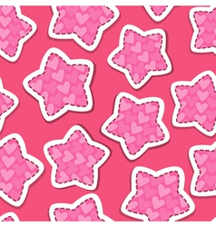 Stars pink 380 vector