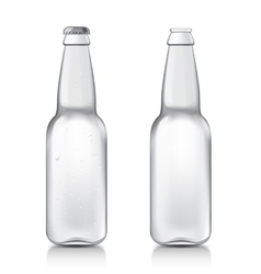 Transparent realistic bottle vector image vector image
