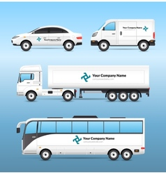 Transport advertisement set vector