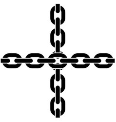 Two crossed chains vector