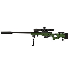 Green sniper rifle vector