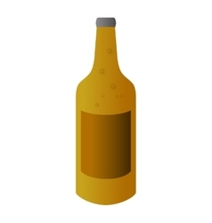 Beer bottle alcohol design vector