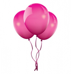 Pink balloons vector