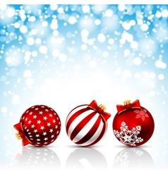 Christmas bals vector image