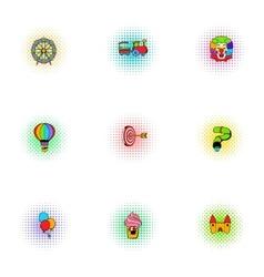 Swing icons set pop-art style vector
