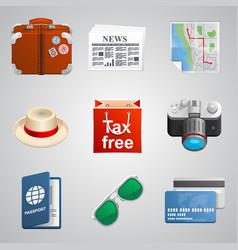 set traveler icons vector image