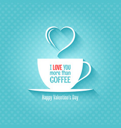Valentines day coffee cup design background vector