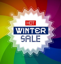 Hot winter sale retro vector