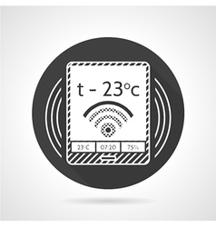 Thermostat black round icon vector