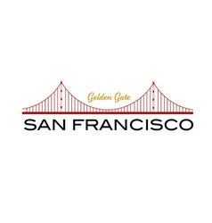 Golden gate bridge of san francisco vector