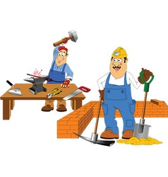 Two workers vector
