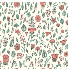 Beautiful seamless floral pattern flower vector