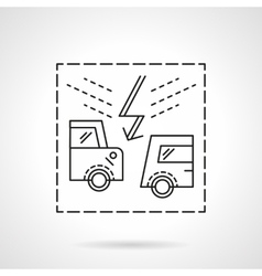Insurance accidents flat line icon vector