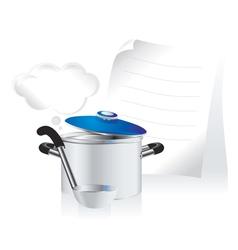 Metallic pan vector