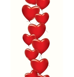 A lot of red hearts vector image vector image