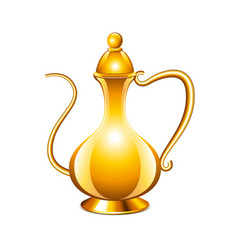 Antique arabic jug isolated on white vector image vector image