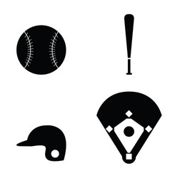 Baseball icons set vector