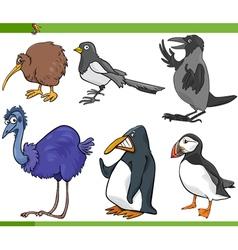 birds cartoon set vector image vector image