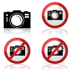 Camera signs vector image vector image