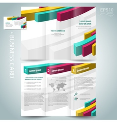 colored action 3d line brochure design template vector image vector image