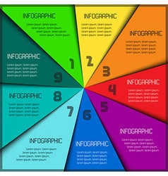 Colorful infographic template with place for your vector image