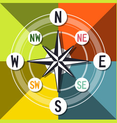 compass colorful design vector image