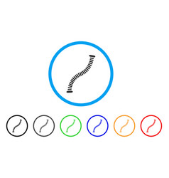 flexible pipe rounded icon vector image vector image